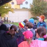Ukázka geologické mapy obce, aby děti měli představu o rozmanitosti hornin v jejich okolí
