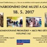Mezinárodní den muzeí a galerií, 18.5.2017