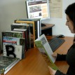 Knihovnička ve vstupu muzea