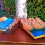 3D modely pravěké krajiny používané v rámci programu pro větší názornost
