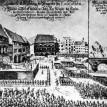 Staroměstské náměstí - poprava předáků českého povstání (rytina), poprava 27 českých pánů