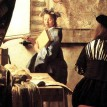 Jan Vermeer van Delft - The Art of Painting - detail